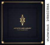 artistic and luxury logo. can... | Shutterstock .eps vector #1486023866