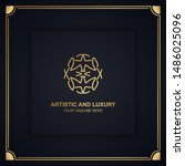 artistic and luxury logo. can... | Shutterstock .eps vector #1486025096