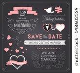 chalkboard style wedding design ... | Shutterstock .eps vector #148602539