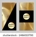 golden and black covers with... | Shutterstock .eps vector #1486033700