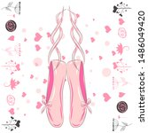 Delicate Pink Pointe Shoes Wit...
