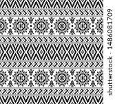 traditional ikat ethnic aztec... | Shutterstock .eps vector #1486081709