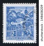 austria   circa 1957  stamp... | Shutterstock . vector #148608209