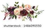 maroon blush wine colors... | Shutterstock . vector #1486090550