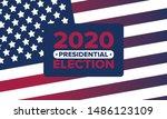 presidential election 2020 in...   Shutterstock .eps vector #1486123109