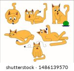 sticker pack of six red multi...