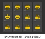 printer icons. vector...