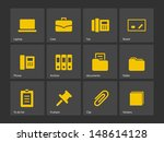 office icons. vector...