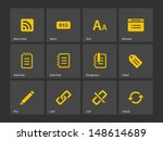 blogger icons. vector...