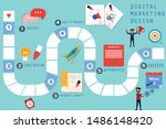 business board game concept ...   Shutterstock .eps vector #1486148420