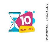 10 days left   colorful... | Shutterstock .eps vector #1486156379