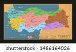 turkey provinces and regions...   Shutterstock .eps vector #1486164026