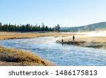 Two Men Fishing At Yellowstone...