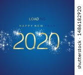 new year 2020 loading sparkle... | Shutterstock .eps vector #1486182920