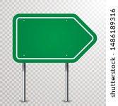 Blank Green Traffic Arrow Sign...