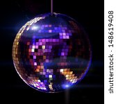 Isolated Disco Ball On The...