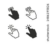 touch vector icon set for... | Shutterstock .eps vector #1486195826
