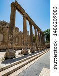 Small photo of Right side of the preface of the ancient Roman amphitheater in Amman, Jordan