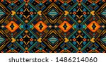 tribal vector ornament.... | Shutterstock .eps vector #1486214060
