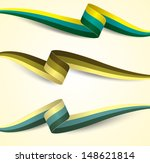 color ribbon with shadow set  ... | Shutterstock .eps vector #148621814