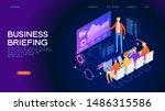 business briefing concept.... | Shutterstock .eps vector #1486315586