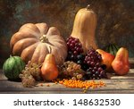 Autumn Fruits And Gourds ...