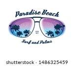 paradise beach. element for... | Shutterstock .eps vector #1486325459