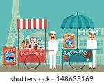 Vintage Push Cart Ice Cream...