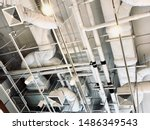 air duct  wiring and plumbing...   Shutterstock . vector #1486349543