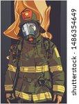 stylized illustration print... | Shutterstock .eps vector #1486354649