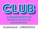 vector of modern font and... | Shutterstock .eps vector #1486356533