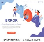page 404 not found landing page ... | Shutterstock .eps vector #1486364696