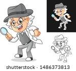 happy old man professor... | Shutterstock .eps vector #1486373813