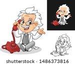 happy old man professor with... | Shutterstock .eps vector #1486373816