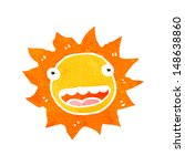 retro cartoon sun with face | Shutterstock . vector #148638860
