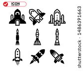 rocket icon isolated sign... | Shutterstock .eps vector #1486391663