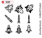 rocket icon isolated sign... | Shutterstock .eps vector #1486391666