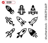 rocket icon isolated sign... | Shutterstock .eps vector #1486391669