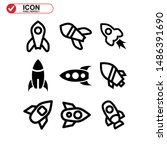 rocket icon isolated sign... | Shutterstock .eps vector #1486391690