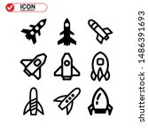 rocket icon isolated sign... | Shutterstock .eps vector #1486391693