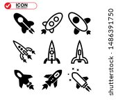 rocket icon isolated sign... | Shutterstock .eps vector #1486391750