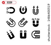 magnet icon isolated sign... | Shutterstock .eps vector #1486400519