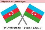 azerbaijan flags isolated on... | Shutterstock .eps vector #1486412033
