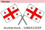 georgia flags isolated on white ... | Shutterstock .eps vector #1486412039