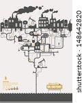 vector concept   oil factory  ... | Shutterstock .eps vector #148642820