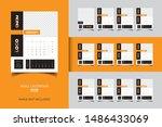 2020 wall calendar template... | Shutterstock .eps vector #1486433069