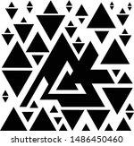 seamless pyramid triangle shape ... | Shutterstock .eps vector #1486450460