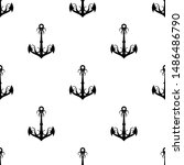 anchor icon seamless pattern ... | Shutterstock .eps vector #1486486790