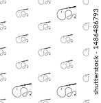 whip icon seamless pattern ... | Shutterstock .eps vector #1486486793