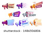 advertising banners with... | Shutterstock .eps vector #1486506806